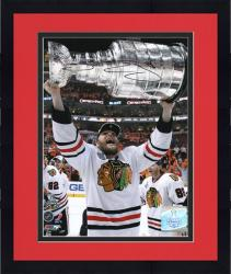 """Framed Chicago Blackhawks Ben Eager 2010 Stanley Cup Champions Autographed 8"""" x 10"""" Photo"""