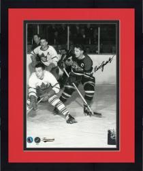 "Framed Chicago Blackhawks Bill Gadsby Autographed 8"" x 10"" Photo -"