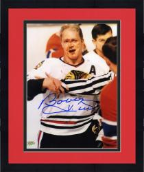 "Framed Chicago Blackhawks Bobby Hull Autographed 8"" x 10"" Blood Photo"