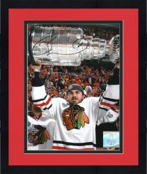 """Framed Chicago Blackhawks David Bolland 2010 Stanley Cup Champions Autographed 8"""" x 10"""" Photo"""