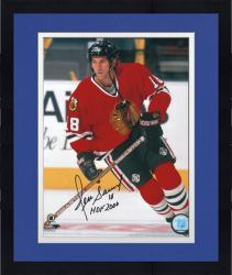 Framed Chicago Blackhawks Denis Savard Autographed 8'' x 10'' Photo