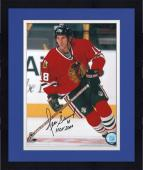 "Framed Chicago Blackhawks Denis Savard Autographed 8"" x 10"" Photo"