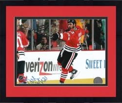 "Framed Chicago Blackhawks Dustin Byfuglien 2010 Stanley Cup Champions Autographed 8"" x 10"" Photo -"