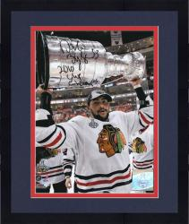 Framed Chicago Blackhawks Dustin Byfuglien 2010 Stanley Cup Champions Autographed 8'' x 10'' Photo