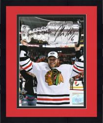 """Framed Chicago Blackhawks Jordan Hendry 2010 Stanley Cup Champions Autographed 8"""" x 10"""" Photo -"""