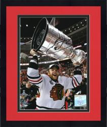 """Framed Chicago Blackhawks Kris Versteeg 2010 Stanley Cup Champions Autographed 8"""" x 10"""" Photo"""