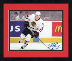 "Framed Chicago Blackhawks Rene Bourque Autographed 8"" x 10"" Photo"