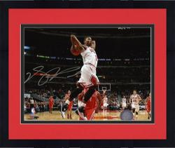 "Framed Chicago Bulls Derrick Rose Autographed 8"" x 10"" Photo"