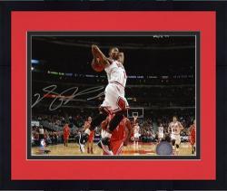 "Framed Chicago Bulls Derrick Rose Autographed 8"" x 10"" Photo"