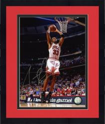 "Framed Chicago Bulls Scottie Pippen Autographed 8"" x 10"" Photo -"