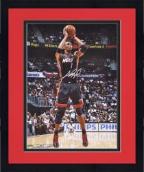 "Framed Chris Bosh Miami Heat Autographed 16"" x 20"" Photograph"