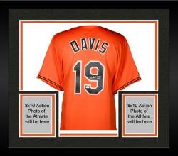 Framed Chris Davis Baltimore Orioles Autographed Majestic Replica Orange Jersey