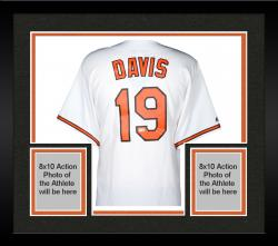 Framed Chris Davis Baltimore Orioles Autographed Majestic Replica White Jersey