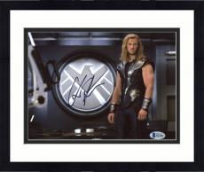 "Framed Chris Hemsworth Autographed 8"" x 10"" Thor: Standing in Department Photograph - Beckett COA"