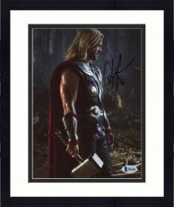 "Framed Chris Hemsworth Autographed 8"" x 10"" Thor: Standing Looking Down Photograph - Beckett COA"