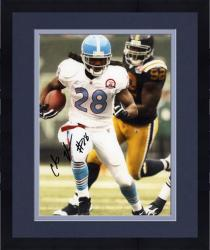 """Framed Chris Johnson Tennessee Titans Autographed 8"""" x 10"""" vs New York Jets Photograph"""