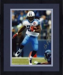 "Framed Chris Johnson Tennessee Titans Autographed 8"" x 10"" vs Seattle Seahawks Photograph"
