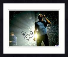 "Framed Chris Martin Autographed 11"" x 14"" Singing Photograph - PSA/DNA"