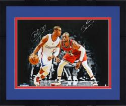 "Framed Chris Paul Los Angeles Clippers Autographed 20"" x 24"" vs. Dwyane Wade Photograph"