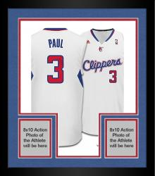 Framed Chris Paul Los Angeles Clippers Autographed Adidas Swingman White Jersey