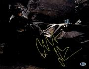 Framed Christian Bale Signed Horizontal Batman 11x14 Photo Beckett