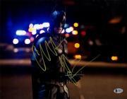 Framed Christian Bale Signed Horizontal Batman Light Background 11x14 Photo Beckett