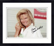 Framed Christie Brinkley Autographed 8'' x 10'' Pointing Finger Photograph