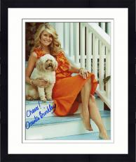 Framed Christie Brinkley Autographed 8'' x 10'' With Dog Photograph