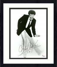 "Framed Chubby Checker Autographed 8"" x 10"" Posing in Suit & Tie Black & White Photograph - JSA"
