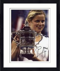 Framed Kim Clijsters Autographed 8'' x 10'' Holding Cup Photograph