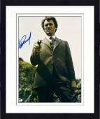 "Framed Clint Eastwood Autographed 11""x 14"" Dirty Harry Holding Gun Vertical Photograph - PSA/DNA LOA"