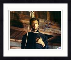 "Framed Clint Eastwood Autographed 11""x 14"" Hang 'Em High Head In Noose Photograph - PSA/DNA LOA"