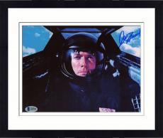 """Framed Clint Eastwood Autographed 8"""" x 10"""" Pilot Photograph - Beckett COA"""