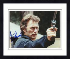 """Framed Clint Eastwood Autographed 8""""x 10"""" Magnum Force Dirt Harry Holding Gun Photograph - Beckett COA"""