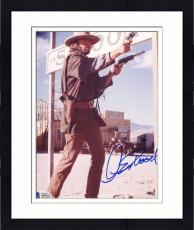 "Framed Clint Eastwood Autographed 8""x 10"" The Outlaw Josey Wales Shooting Guns Photograph - Beckett COA"