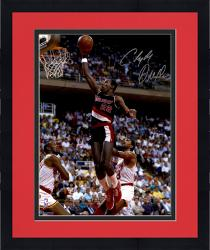 "Framed Clyde Drexler Portland Trail Blazers Autographed 16"" x 20"" Black Uniform Photograph"