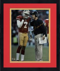 "Framed Colin Kaepernick & Jim Harbaugh San Francisco 49ers Autographed 16'' x 20"" Vertical Talking Photograph"