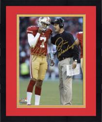 "Framed Colin Kaepernick & Jim Harbaugh San Francisco 49ers Autographed 8"" x 10"" Vertical Talking Photograph"