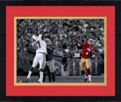 Framed Colin Kaepernick San Francisco 49ers Autographed 11'' x 14'' Spotlight Photograph - Mounted Memories