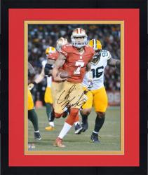 Framed Colin Kaepernick San Francisco 49ers Autographed 16'' x 20'' Black Signature Photograph