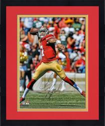 Framed Colin Kaepernick San Francisco 49ers Autographed 16'' x 20'' Passing Photograph - Mounted Memories