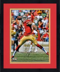 Framed Colin Kaepernick San Francisco 49ers Autographed 16'' x 20'' Passing Photograph