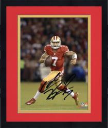 Framed Colin Kaepernick San Francisco 49ers Autographed 8'' x 10'' Action Photograph