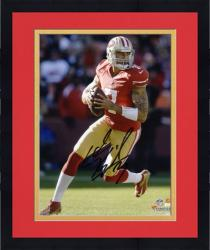 Framed Colin Kaepernick San Francisco 49ers Autographed 8'' x 10'' Black Signature Photograph