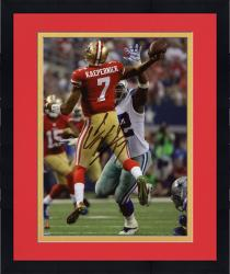 Framed Colin Kaepernick San Francisco 49ers Autographed 8'' x 10'' Jump Pass Throwing Photograph