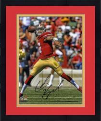 "Framed Colin Kaepernick San Francisco 49ers Autographed 8"" x 10"" Passing Photograph"