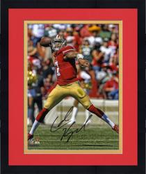 "Framed Colin Kaepernick San Francisco 49ers Autographed 8"" x 10"" Passing Photograph"
