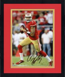 Framed Colin Kaepernick San Francisco 49ers Autographed 8'' x 10'' Roll Out Pass Photograph