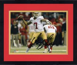 Framed Colin Kaepernick San Francisco 49ers Autographed 8'' x 10'' Throw Photograph