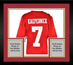 Framed Colin Kaepernick San Francisco 49ers Autographed Nike Game Replica Jersey